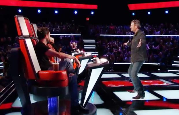 Blake Shelton on The Voice- He Thinks He's a Dancer