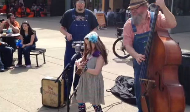 9 year old wows with her Johnny Cash Cover